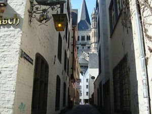 In the old part of Cologne